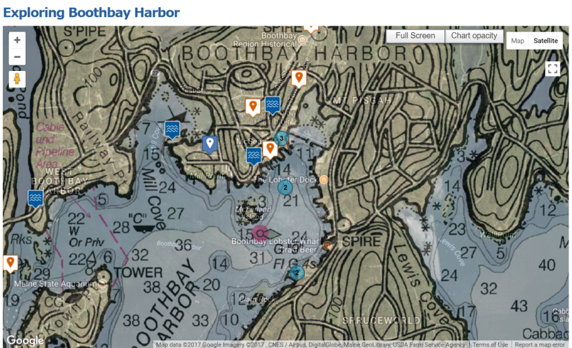 US Harbor Chart Boothbay