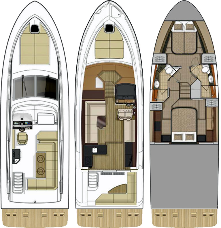 Sea Ray Fly 460 Layout