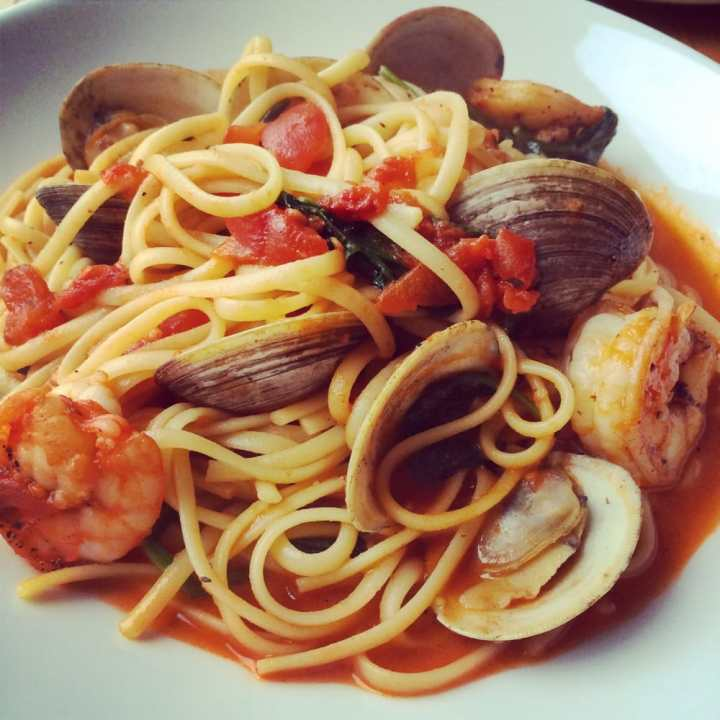 Fluke Clams and Pasta