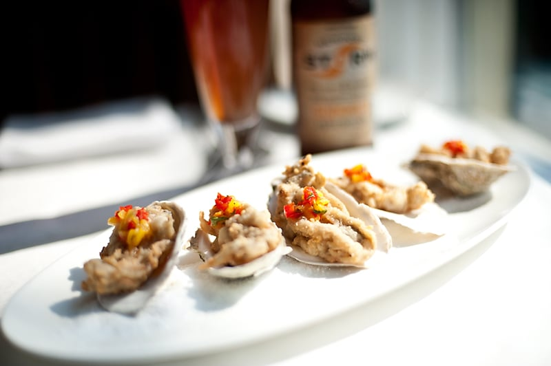 Fluke Fried Oysters