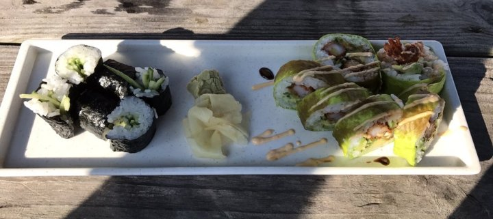 Oar Cucumber Roll and Tempura Roll