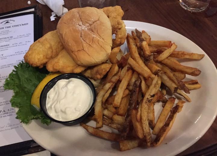Offshore Ale Co Fish Sandwich