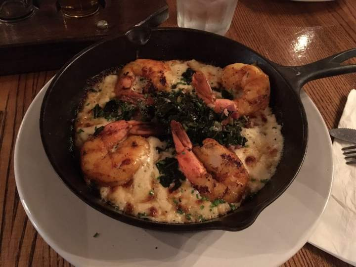 Wharf Pub Shrimp and Grits