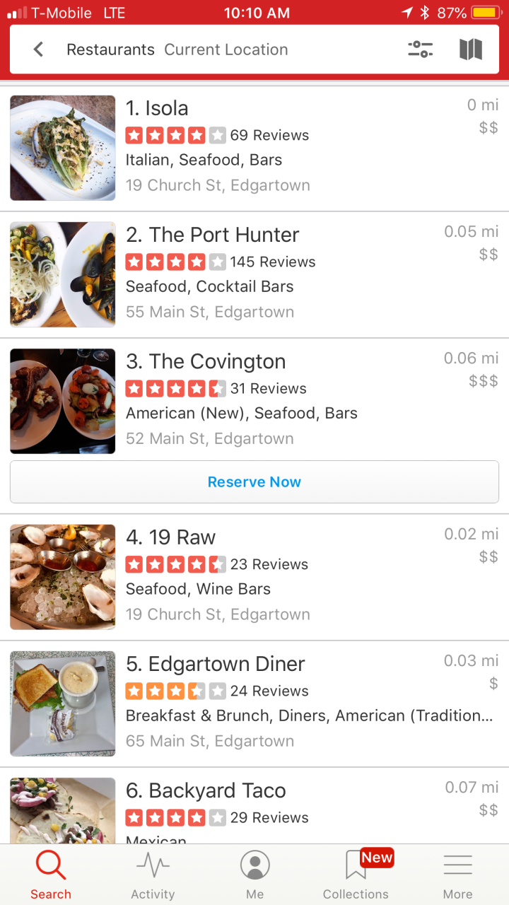 Edgartown yelp