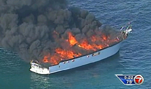 Boat Accident Fire